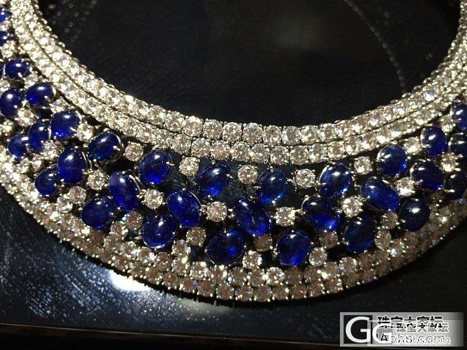 这也是最近给女友买的,70克拉钻石,125克拉蓝宝石_蓝宝石古董首饰