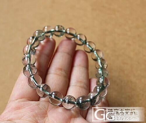 1250好品质◎9mm圆珠天然巴西绿幽灵手链◎助事业聚财◎送证书_宝石