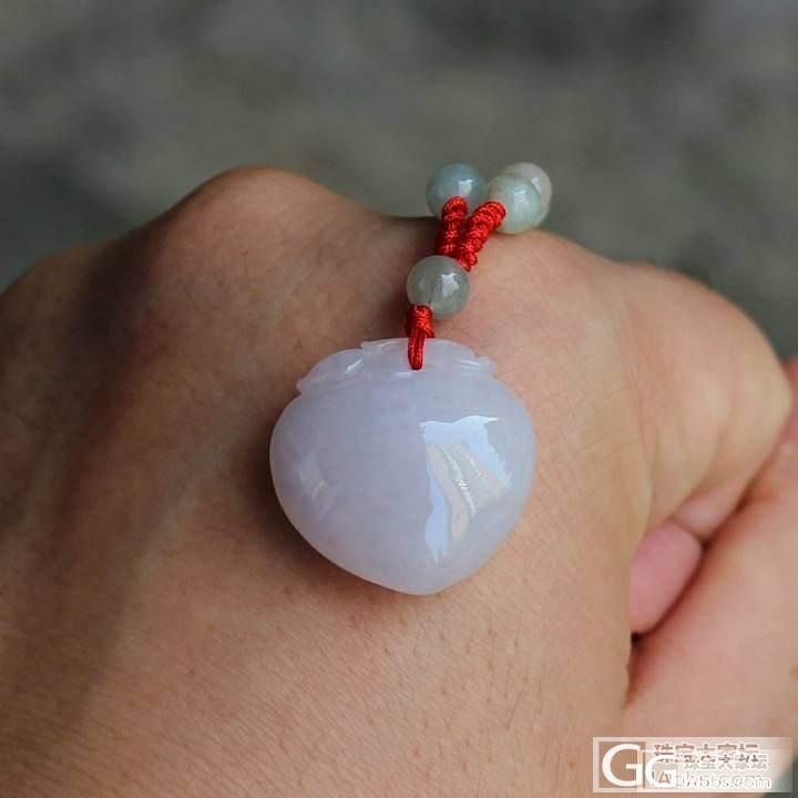 【夏夏翡翠】    紫罗兰 桃子 淡淡的粉紫色    300元_翡翠