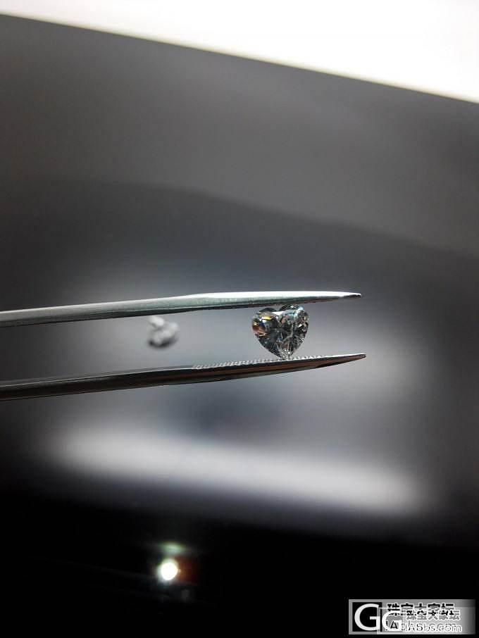 【先恩尼】gia 70分 e色 心形 性价比钻钻一枚~ _钻石