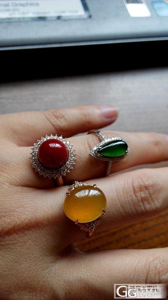 最近刚收的阿卡圆珠戒指_珊瑚