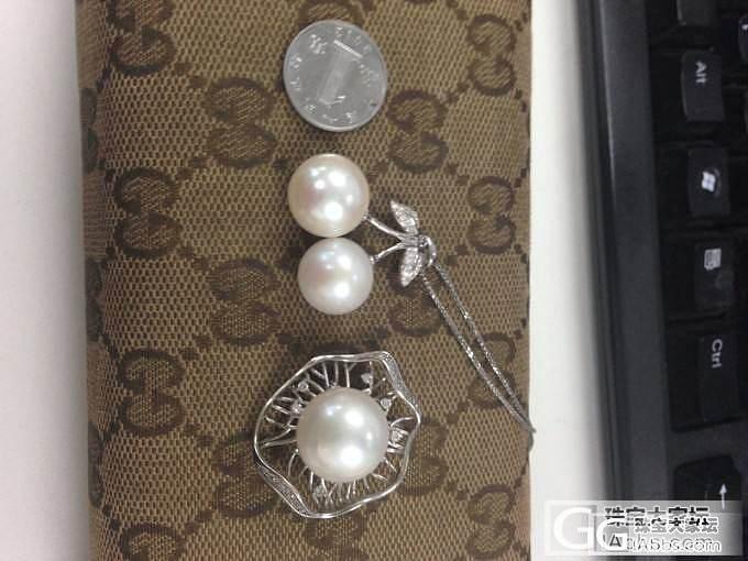 原来价廉也可以妩媚滴~晒两个刚镶嵌好..._吊坠淡水珍珠戒指碧玺