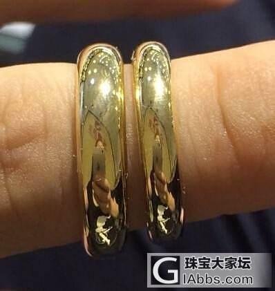 想送老公一枚平板光圈金戒 类似螺丝戒..._戒指金