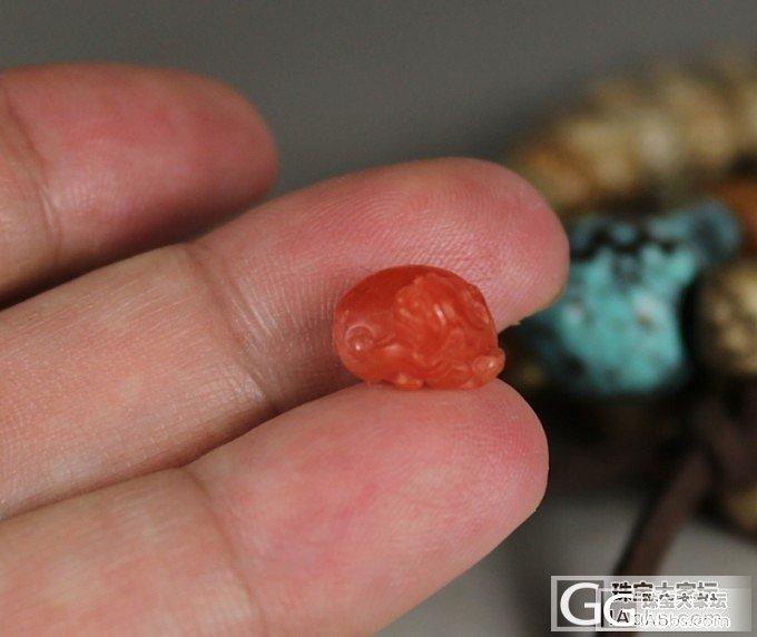 580元 樱桃红貔貅戒面、360元 ..._传统玉石