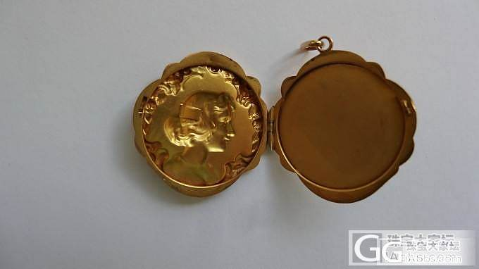上个世纪初法国镶钻石金坠_古董首饰金