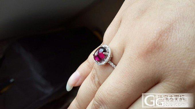 店铺vip优先够来的枚红色戒指一枚~_石榴石