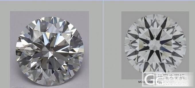 给媳妇定了个钻石 大家看看切工是不是..._钻石
