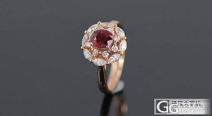 【忆宝】高端大气上档次的红宝石戒指!_宝石