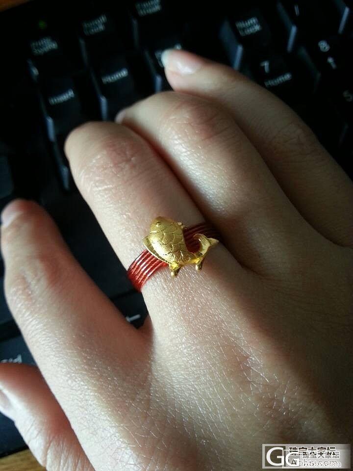 包邮出校长家的拉丝鱼儿戒指送红色15..._金