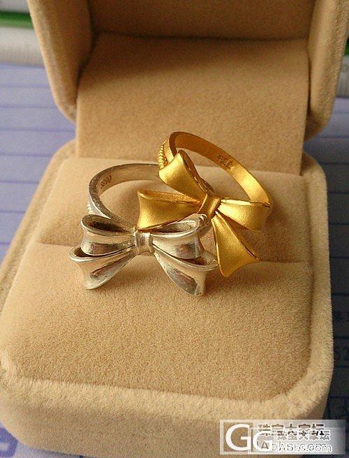 我的金银大蝴蝶结戒指,圆满了。_戒指金