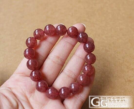 【醉玉轩】 09.27日  草莓晶手链10.5-10.7mm 包邮_宝石