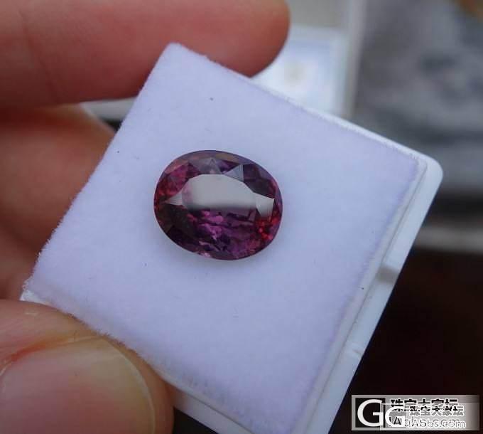 真正的紫红,紫+红碧玺_碧玺刻面宝石