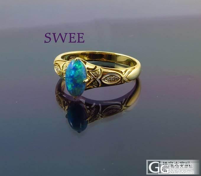 复古的澳洲水晶欧泊戒指_欧泊刻面宝石