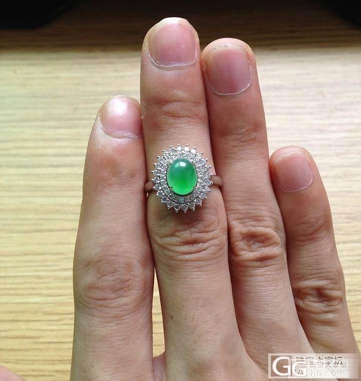 【广佛可实体店交易】豪镶戒指:绿灯泡..._翡翠