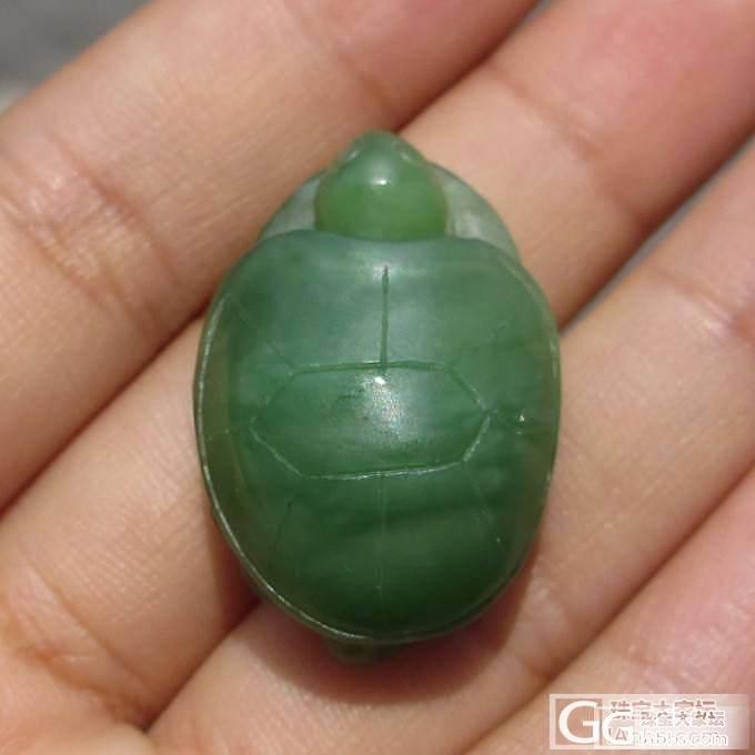 和田玉碧玉精雕长寿龟小乌龟挂件精品吊坠_珠宝