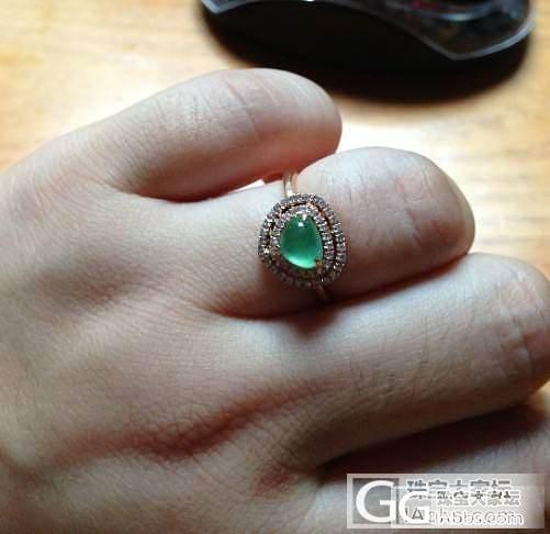 晒晒小绿灯泡戒指,还有DIY星月手串,顺道求金币!有闪必还!_翡翠