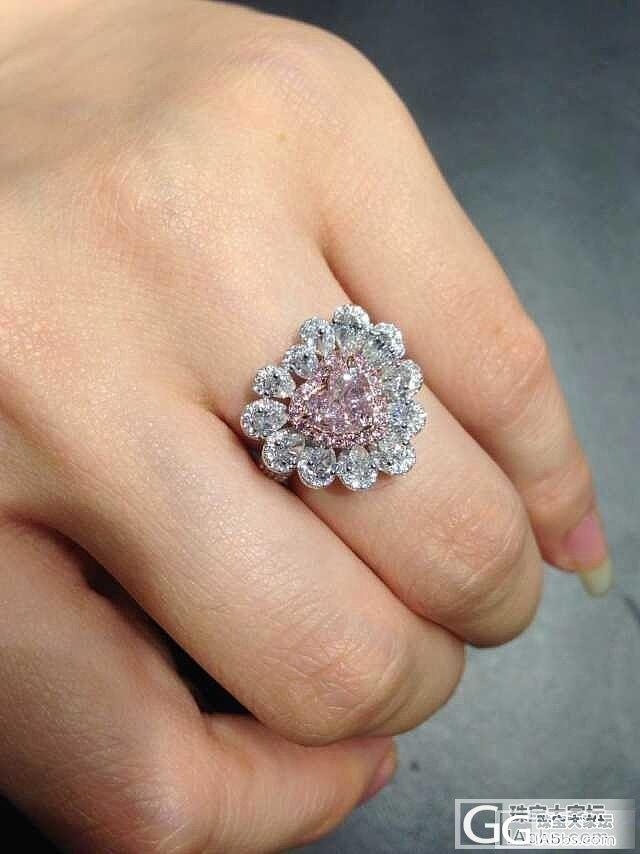 【圣韵宝宝】心形粉钻,好棒好棒的_圣韵钻石