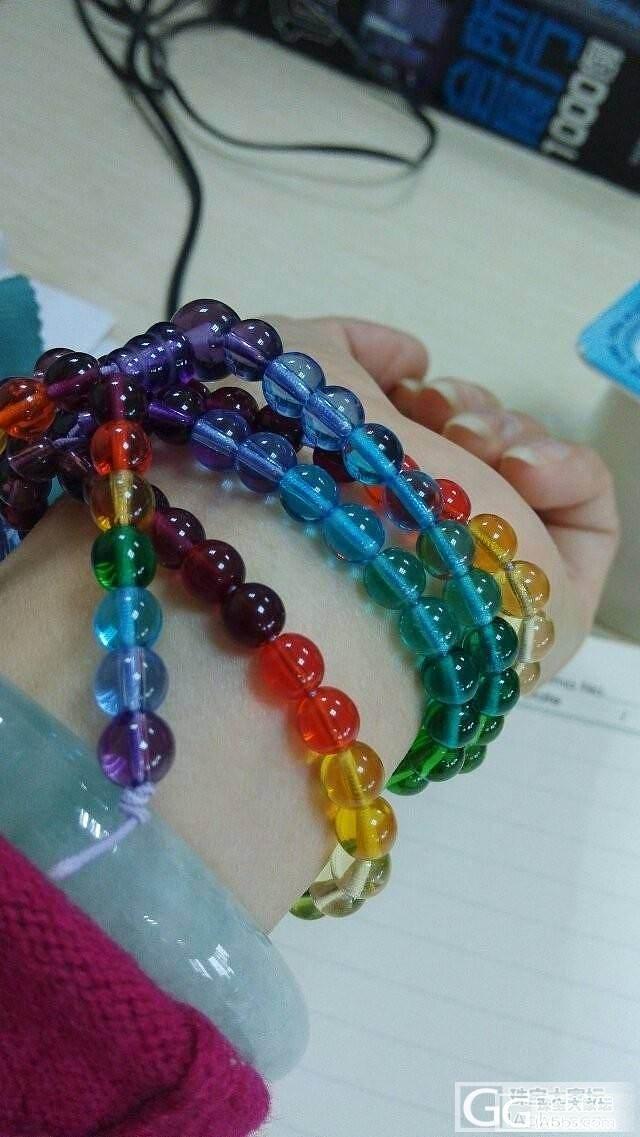 看看这个彩虹,呵呵,能看出点什么吗_宝石