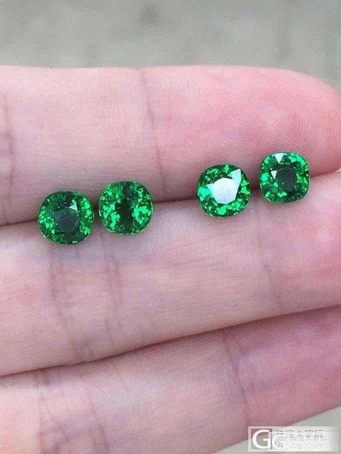 AMO珠宝 两对沙弗莱裸石 回复可见价格_宝石