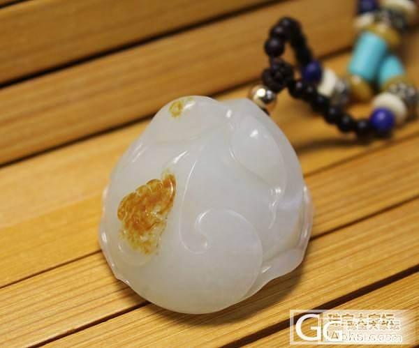 12月3日 新疆和田玉白玉羊脂玉籽料 金蟾挂件_传统玉石