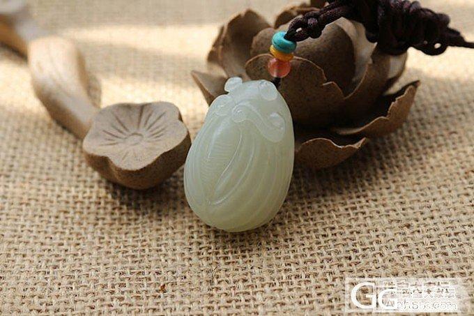 【函玉阁】和田玉 苏工精雕且末青白料一鸣惊人 知了_传统玉石