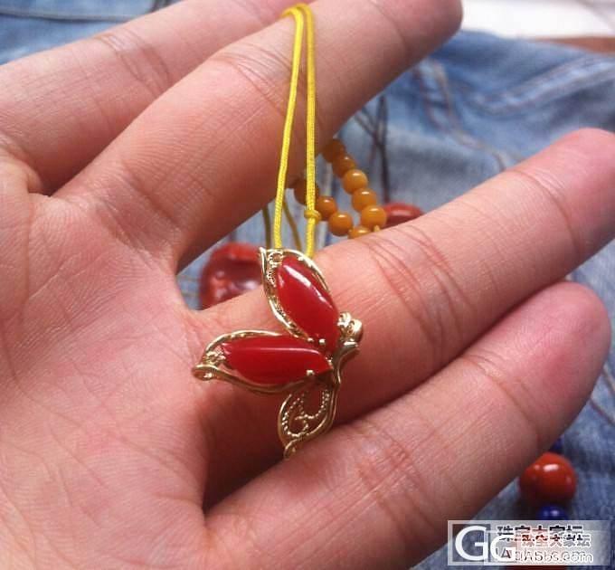 南红大珠 珊瑚 蜜蜡 碧玉 都是阿卡和柿子红哦 还有珊瑚和蜜蜡_传统玉石