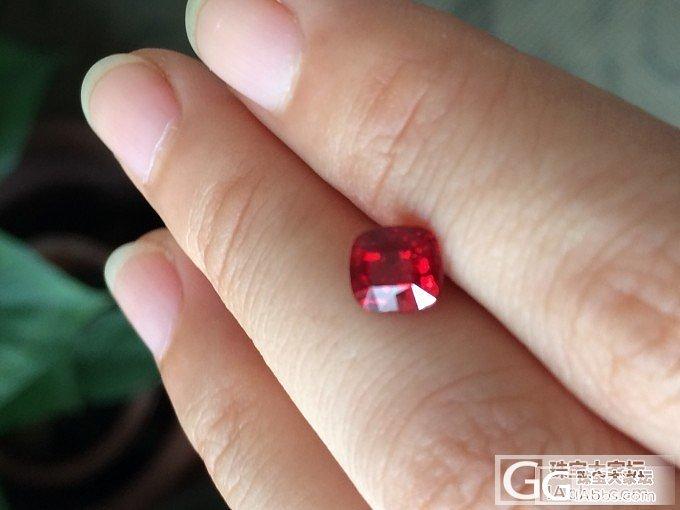 美得发腻的公主方火焰红尖晶!_珠宝