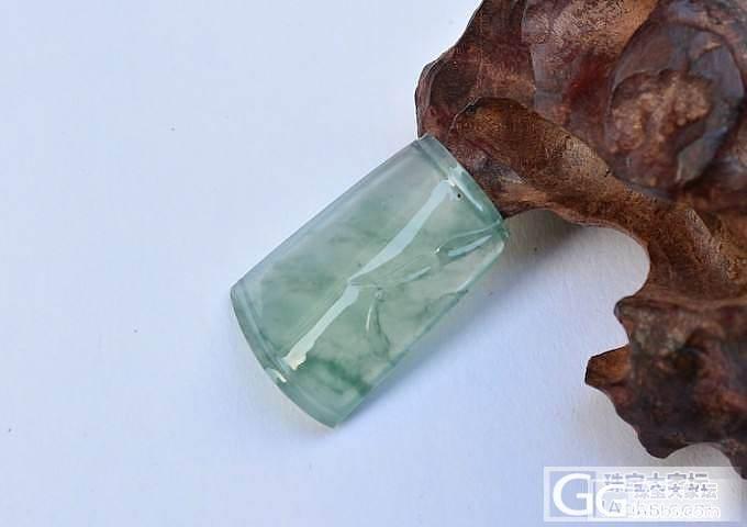 7个高冰种荧光叶子、一个玻璃飘花竹节..._翡翠