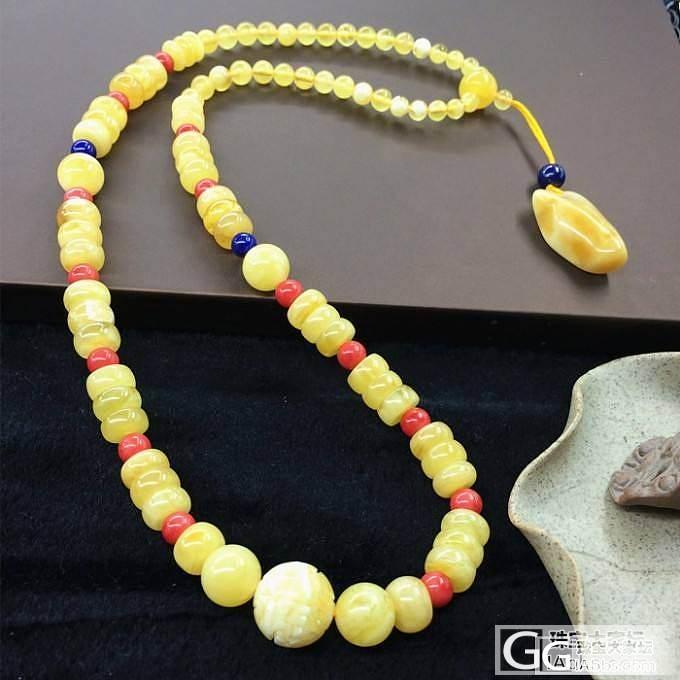 天然琥珀蜜蜡糖果项链_有机宝石