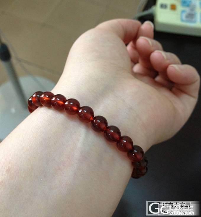 到期重发!自刀!天然强光月光石手链、橙红色净体石榴石手链_宝石