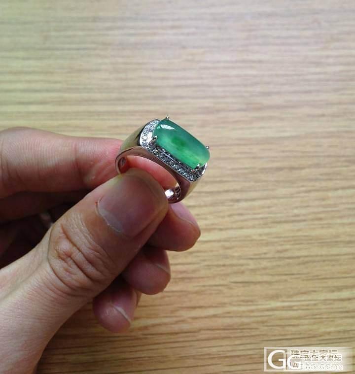 【广佛可实体店交易】豪镶戒指:绿灯棍..._翡翠