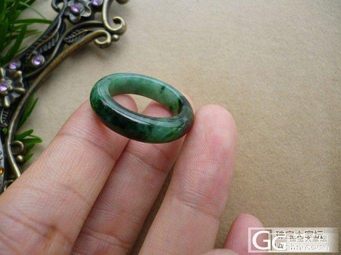 花青绿小环和花青戒指还有冰糯种大平安..._翡翠
