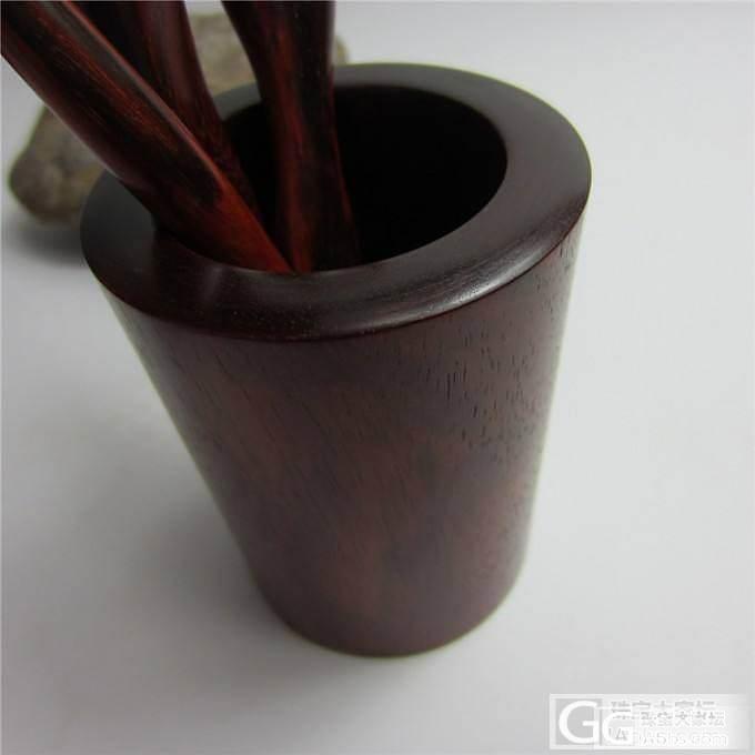 小叶紫檀茶筒茶针茶镊茶勺一套(第6件)_珠宝
