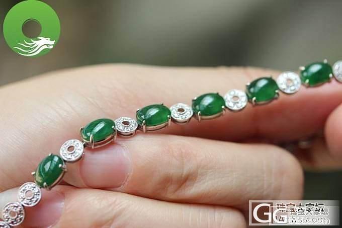 【翠丰珠宝】满色18k金镶嵌女款手链--圆圆满满复古玉链_翡翠