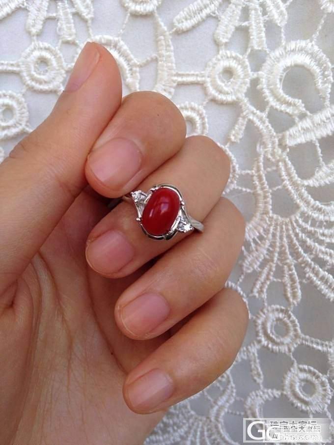 纯天然阿卡红珊瑚 925银镀金镶嵌 带国检证书_珠宝