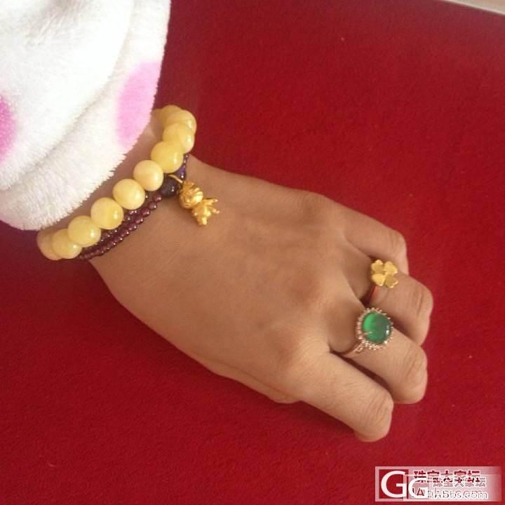【更新多图】发个阳绿玉髓戒指,以假乱真的大绿蛋~土豪装备O(∩_∩)O哈哈~_传统玉石