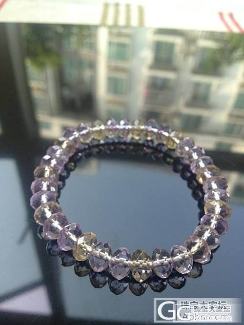 请大大们估个价,这串水晶手链多少能收?_宝石
