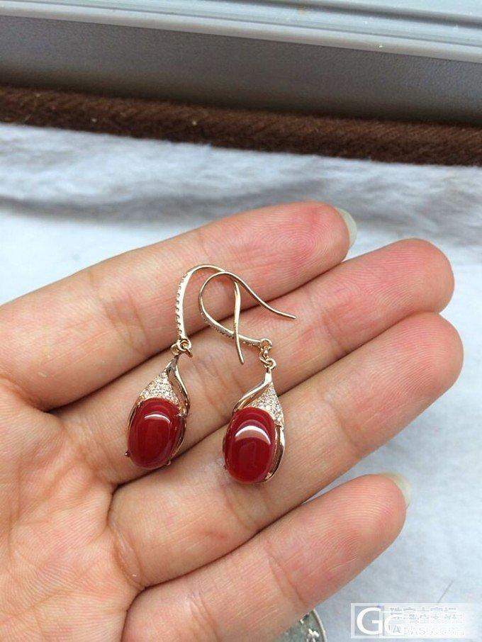 漂亮的红珊瑚阿卡耳环,不可错过_有机宝石
