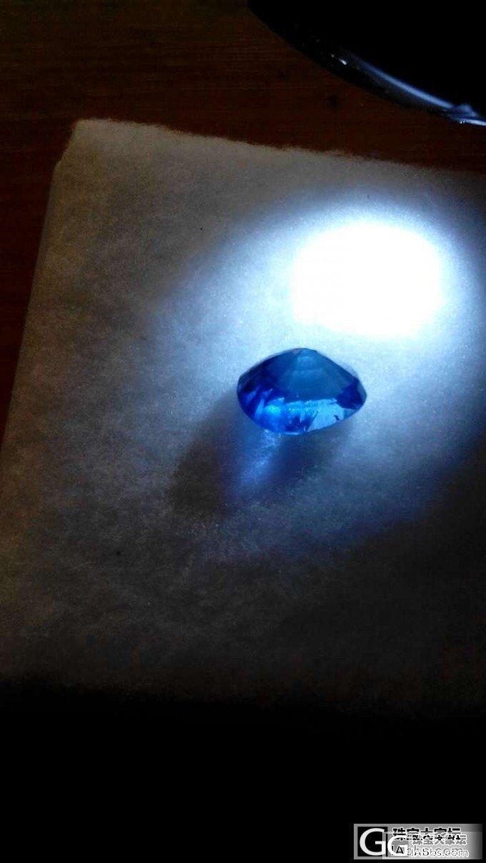 晒下蓝宝。估个价呗。_宝石