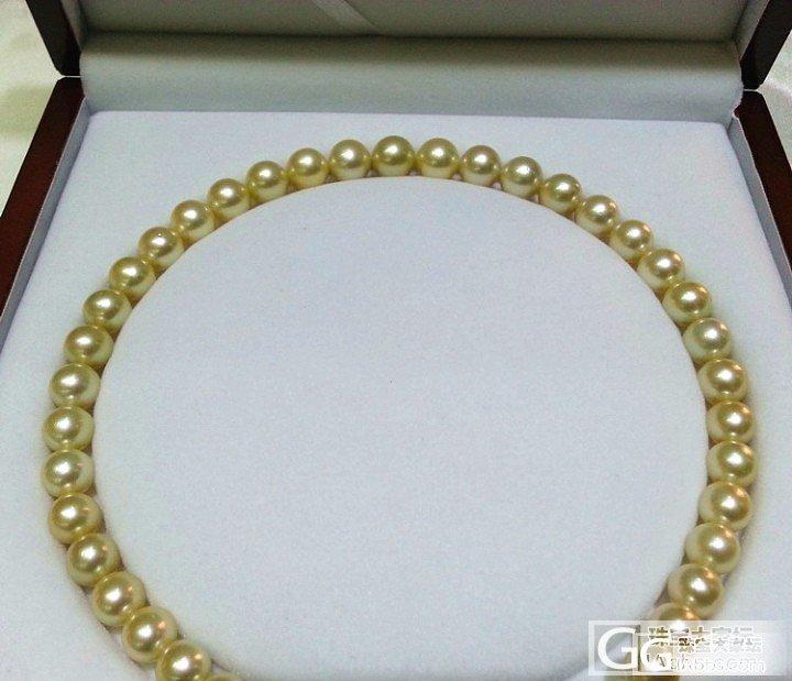 12.5:南洋金珠项链 9-12mm 珠宝级珍品 特价_菲凡珍珠