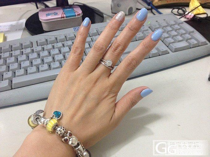 潘多拉,九围一,小排钻,还有小奥汀_钻石戒指银