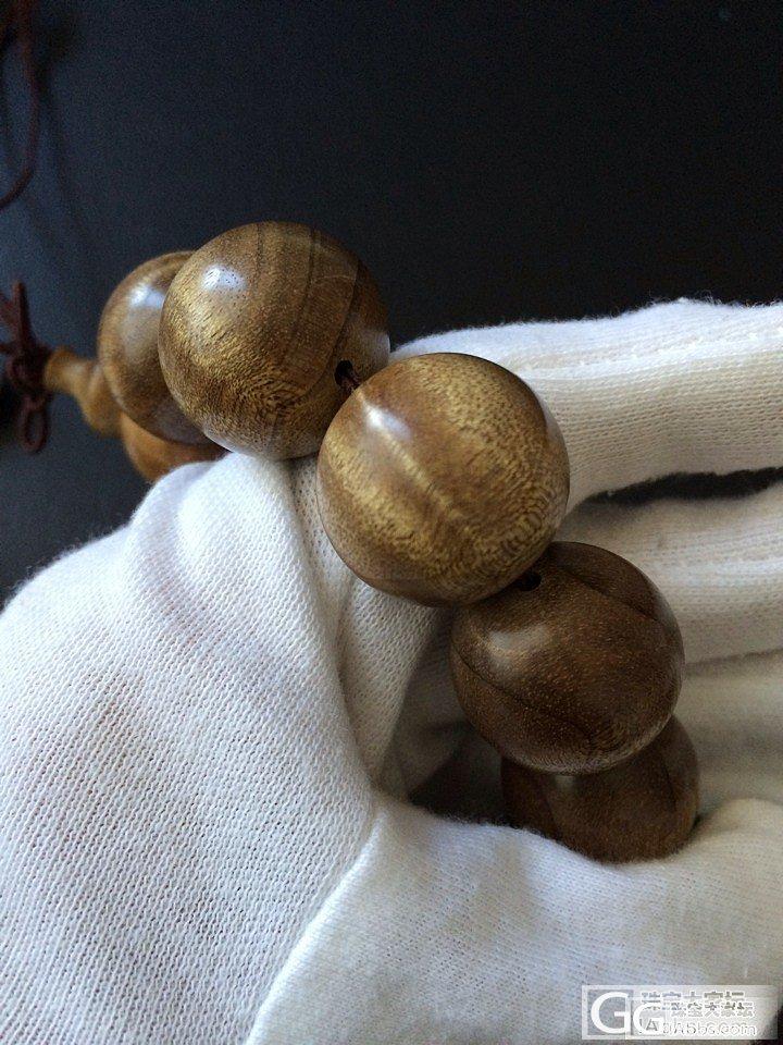 【已自刀】筹米买镯子,亏转一条老料金丝楠2.0水波纹手串_珠宝