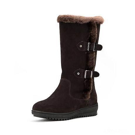 转卖意尔康秋冬新款磨砂皮平跟中筒靴子..._品质生活
