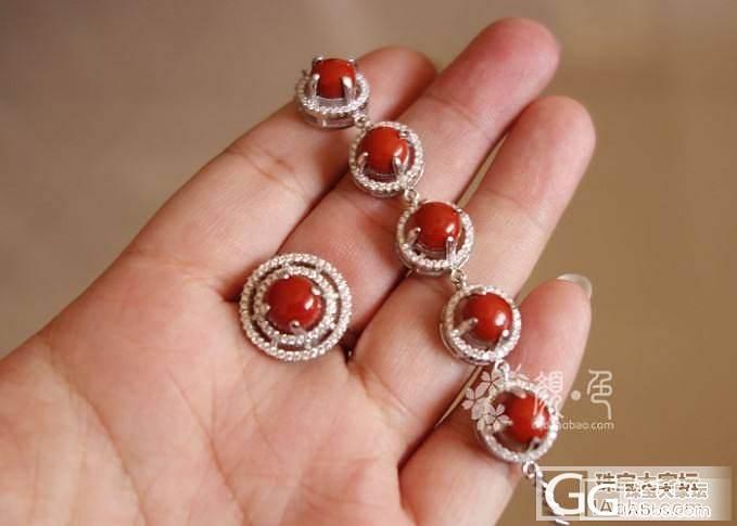 【颜●色】(售罄)纯色柿子红项链戒指套装 1800元