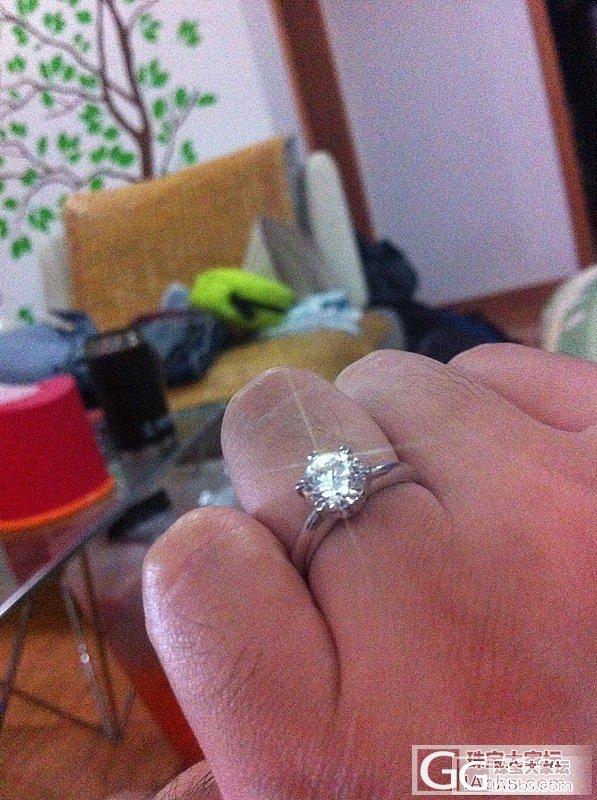 结婚周年购入1.23ct钻石慰劳老婆~~_钻石