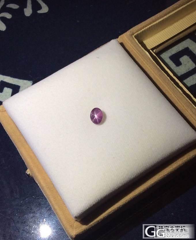 姐姐去斯里兰卡旅游回来送的星光紫蓝宝。。_名贵宝石