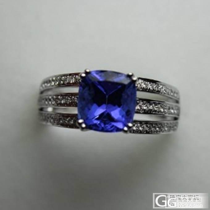 发个自己带的坦桑戒指 纯欣赏_坦桑石刻面宝石