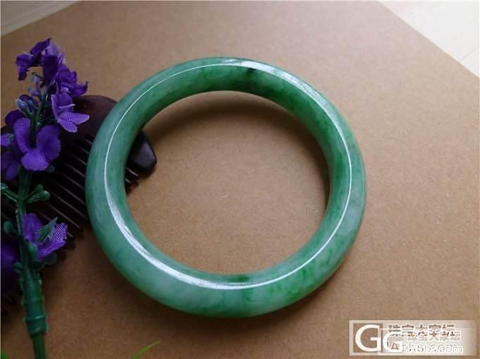 微信号:feicui10 绿色圆条手镯售价15000_小蛋蛋美玉店