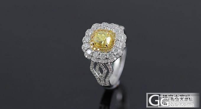 【忆宝】美腻的大黄钻戒指!_宝石