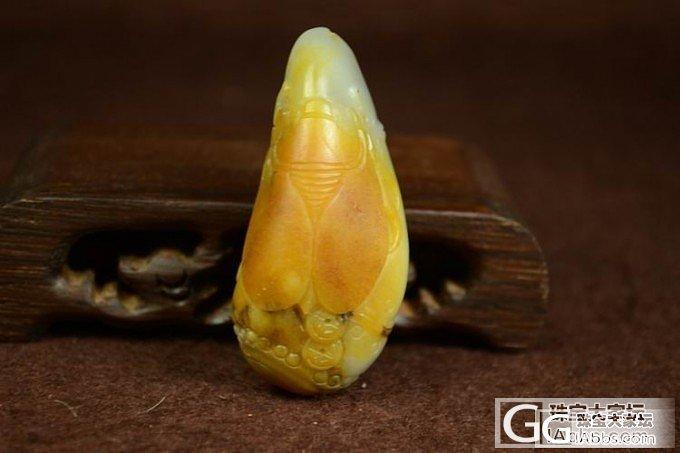 和田玉挂件 正品保真 支持复检 皮色俏雕黄沁青花籽料金钱缠身_传统玉石